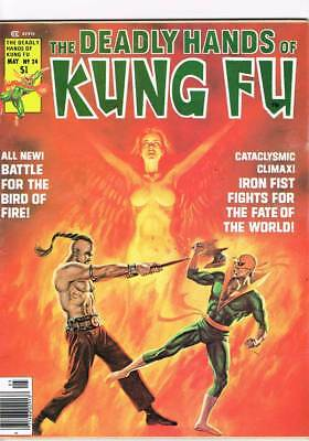 Deadly Hands of Kung Fu # 24  The Fate of the World !   grade 7.5 scarce book !