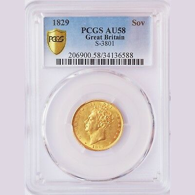 King George The Iv 1829 Gold Sovereign....pcgs 58