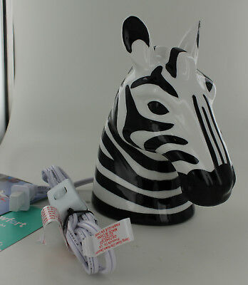 New Pillowfort Nightlight - Zebra Head - Black & White - Nightstand Desk