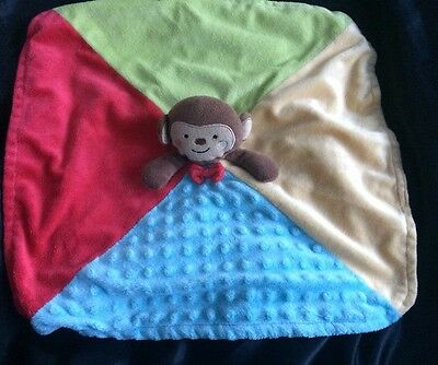 Babies R Us KOALA BABY BROWN Monkey RED Bow Fleece Lovey Security Blanket ~ NICE