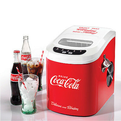 Coca-Cola Countertop Ice Cube Maker Red ~ Portable Mini Ice Machine ~ Ice100Coke