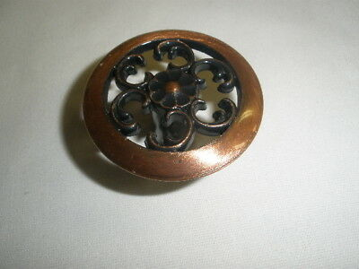 Vintage COPPER COLOR Cabinet Door/Drawer PULL-KNOB -NO BAR CODE-NOS-Lot #20
