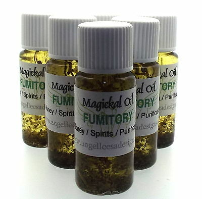Fumitory Herbal Magickal Anointing 10ml Oil Purification Wealth Spirits