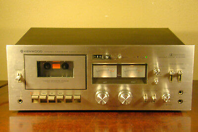 KENWOOD KX-1030 STEREO CASSETTE DECK TAPE PLAYER KX1030 *powers up, for repair*