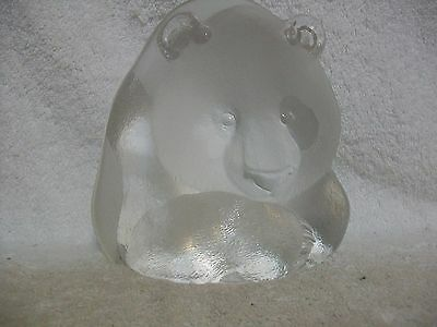 Mats Jonasson Sweden Lead Crystal Bear Face Sculpture  Signed/Numbered