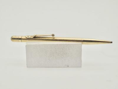 Rare Fyne Poynt Mabie and Todd Ltd Rolled Gold Pencil Empty Cartouche EK13