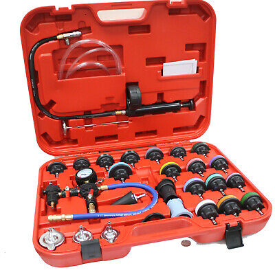 28Pc Master Radiator Pressure Tester Kit Coolant Vacuum Purge Refill W/adapters