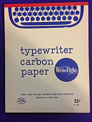 Vintage Typewriter Paper Carbon WriteRight Paper Bag Camp Paper Corporation