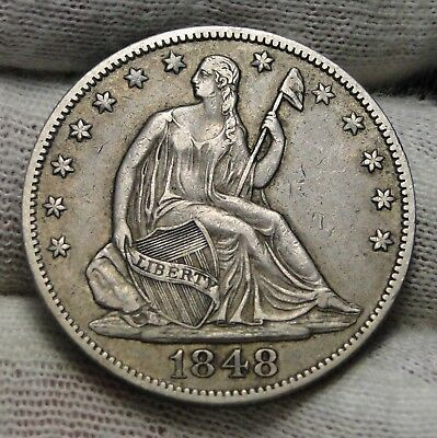1848-O Seated Liberty Half Dollar 50 Cents.  Nice Old Coin Free Shipping (6776)