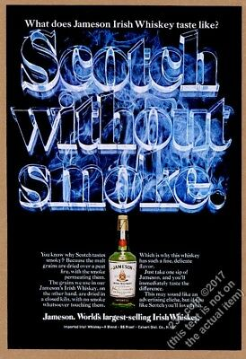 1976 Jameson Irish Whiskey bottle photo Scotch Without Smoke vintage print ad