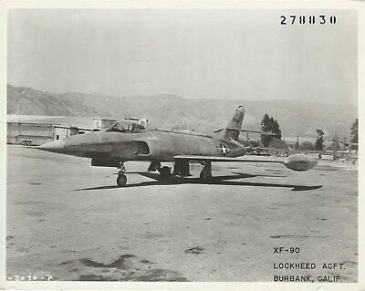 LOCKHEED Factory Photo: XF-90 NO. 46-687 Prototype at Burbank. One of Two Built.