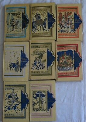 Set 8 Book Russian 1001 Thousand One Night Arabic Fairy Tale USSR Child Kid Old
