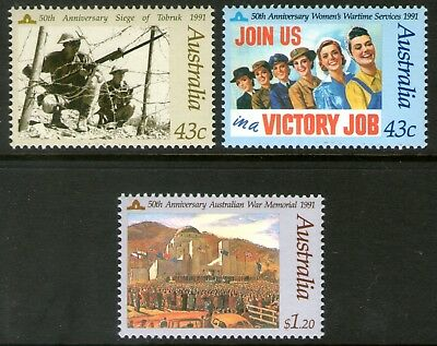 Australia 1991 Those Who Served set of 3 Mint Unhinged