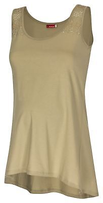 9 Monate Umstands shirt Umstandsmode Umstandstop Long TOP Khaki A Form 40-42 M
