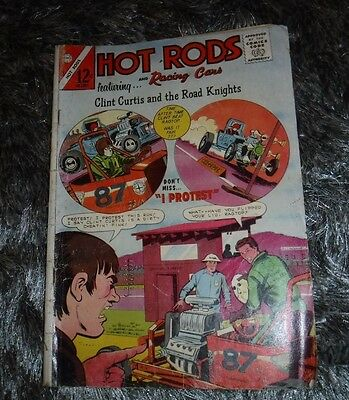 Hot Rods & Racing Cars -Clint Curtis & The Road Knights Aug.1965 Vol 1 No 75