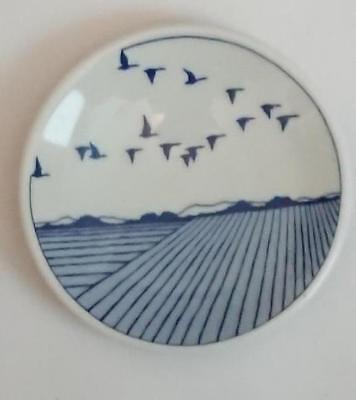 Small Pin Dish - Porsgrund Norway   77mm  the return of the birds in Springtime