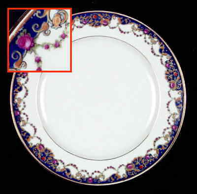 Royal Bayreuth PINK & GOLD FLOWERS Salad Plate S621013G2