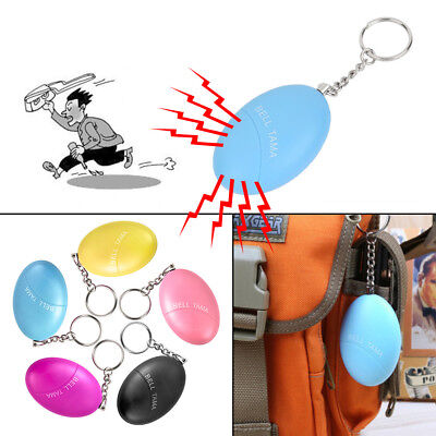 Hot Egg Self Defense Alarm Women Security Protect Alert Personal Scream Keychain