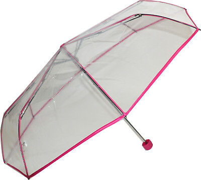 Soake Clear Folding Umbrella - Pink