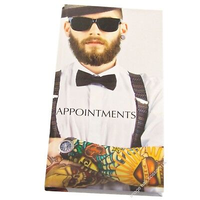 Appointment Book Barbers TATTOO MAN Male Grooming Gents Hair Salon 3 - 6 Column