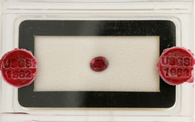 1.76ct Loose Spinel Gemstone USGSI Report - Oval Mixed Cut Red
