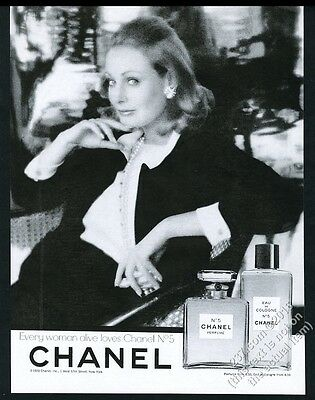 1970 Chanel No.5 perfume Eau de Cologne Every Woman Alive vintage print ad