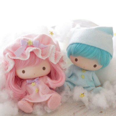 ((New)) RARE Sanrio Japan Little Twin Stars Soft Vinyl Doll Set kikilala
