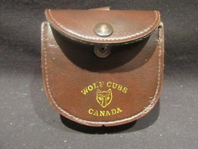 Wolf Cubs Canada Vintage Leather Belt Pouch