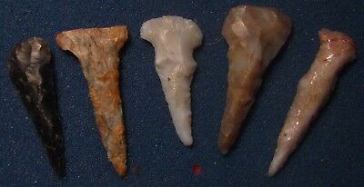 R-Colorado Indian Arrowheads Xtra Nice Group of drills and awls--5 points