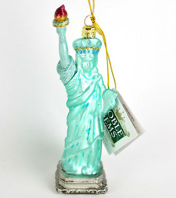 New York Statue of Liberty Noble Gems Kurt Adler Glass Christmas Ornament T05