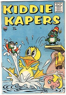 KIDDIE KAPERS #1 1957 DECKER Red Top - Farrell SILVER AGE COMIC Funny Animal