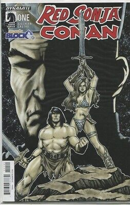 Red Sonja Conan #1 Comic Block Variant NM Dynamite First Print