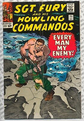 Sgt. Fury and His Howling Commandos #25 (1965) VG/F (5.0) ~ Marvel Comics