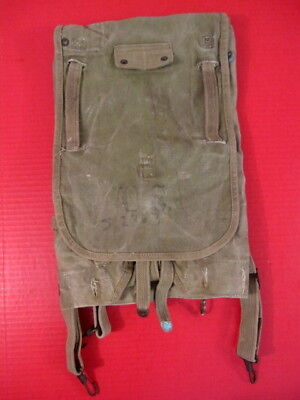 WWII US Army M1928 Haversack Pack Khaki Color Complete - Dated 1941 - Nice #3