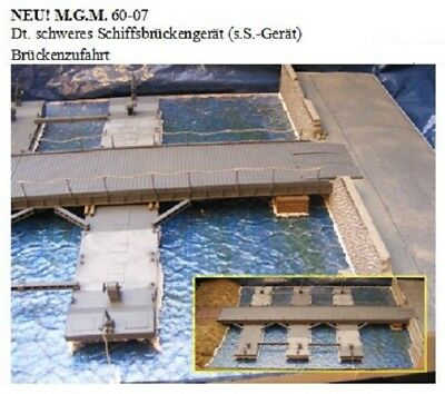 MGM 060-007 1/72 Resin WWII German Heavy Pontoon Bridge Section-Bridge Access