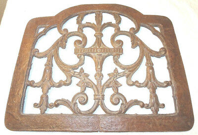 Antique Wood Wall Grate Air Vent