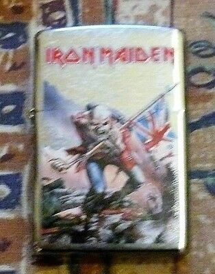 Music Iron Maiden Trooper Zippo Lighter Free P&p Free Flints