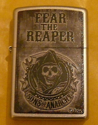 Skulls Sons Of Anarchy Fear The Reaper Zippo Lighter Free P&p Free Flints