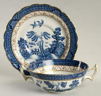 Booths REAL OLD WILLOW BLUE Cream Soup & Saucer 1234532