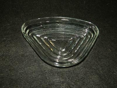 Anchor Hocking Manhattan Clear Triangle Relish Insert Glass Free Ship 3 Avail