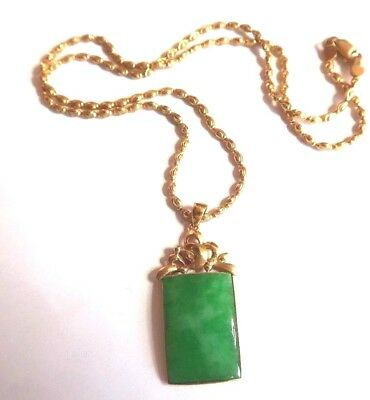 Fine gold 916 chinese jade pendant chain 50000 picclick uk fine gold 916 chinese jade pendant chain aloadofball Gallery