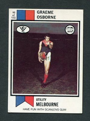"Scanlens Gum 1974 ""rugby League - #95 Graeme Osborne Melbourne"" Rare Trade Card"