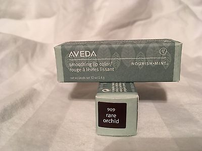 Two (2) .12 oz Aveda Nourish-Mint Smoothing Lip Color #909 Rare Orchard NEW