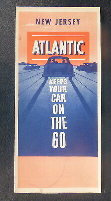 1953 New Jersey road map  Atlantic  oil  gas