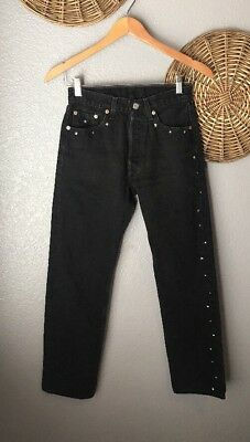 Vintage Levis 501 XX Jeans Womens High Rise Mom Button Fly USA 27x30 - 26x29