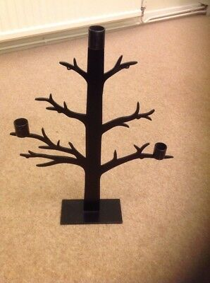 Black Metal Tree Candle Holder Used Once