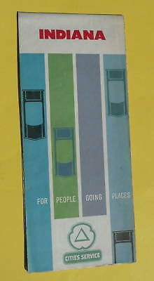 1962 Indiana road map Cities Service oil  early IS