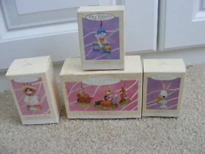 Hallmark Easter Spring Ornament Lot Of 6 Snoopy Eggspress Tender Touches