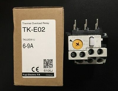**Brand New** FUJI ELECTRIC TK-E02 Thermal Overload Relay 6-9Amp