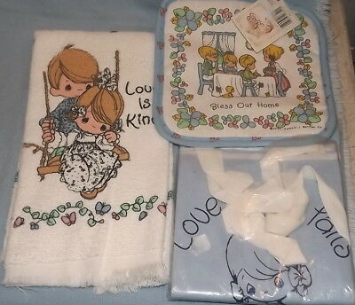 Precious Moments Apron Dish towel Hot pad NWT Lot of 3